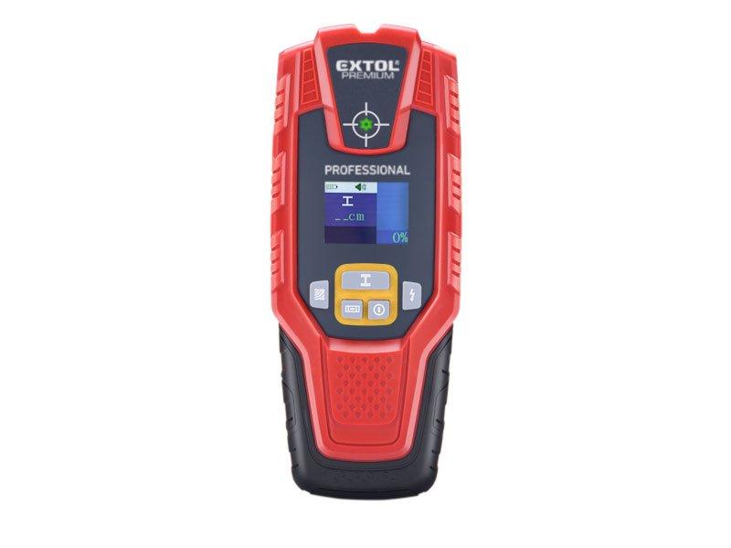 Digitální detektor kovů a elektrického vedení Extol Premium