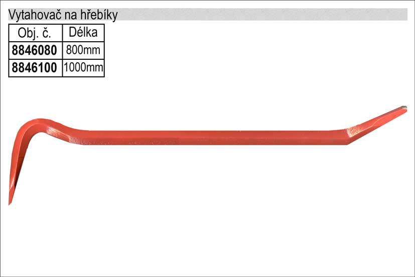 Páčidlo vytahovač hřebíků délka 1000mm EXTOL PREMIUM
