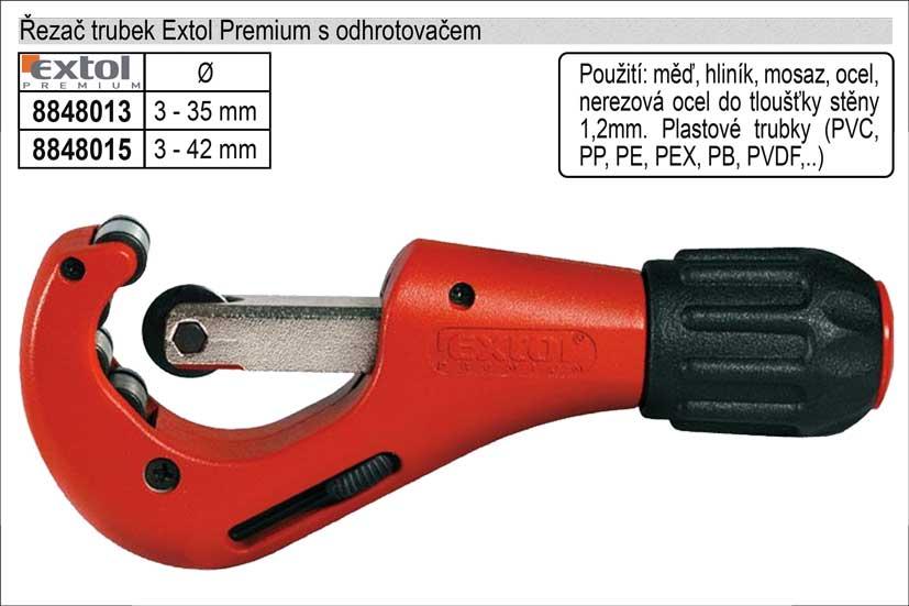 Řezač tenkostěnných trubek  3-35mm Extol Nářadí 0.592Kg MA8848013