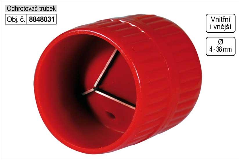 Odhrotovač trubek vnitřní i vnější 4-38mm Nářadí 0.07Kg MA8848031