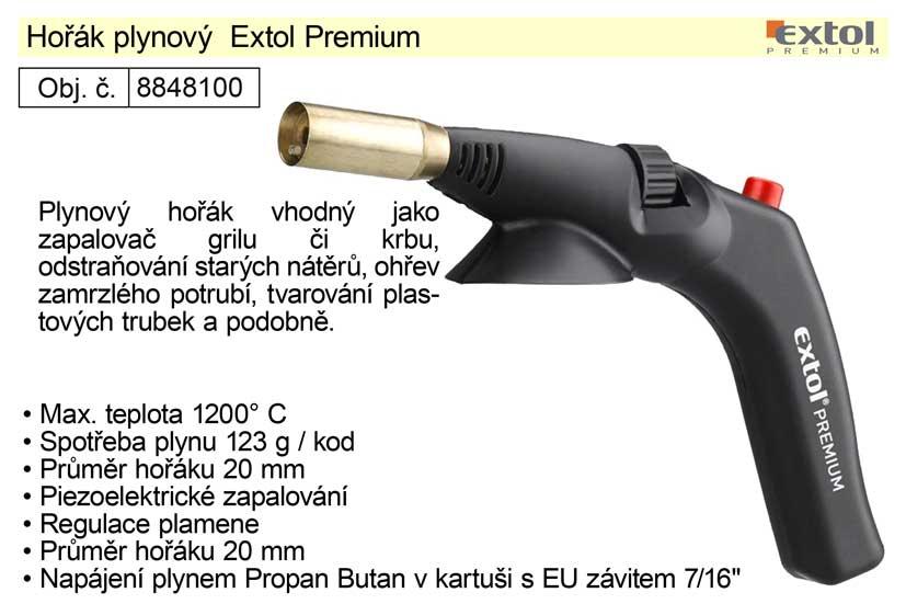 Hořák plynový Extol Premium pro kartuše se závitem