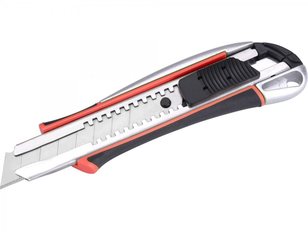 EXTOL PREMIUM nůž ulamovací kovový s výstuhou, 18mm Auto-lock 8855024 Nářadí 0.118Kg MA8855024