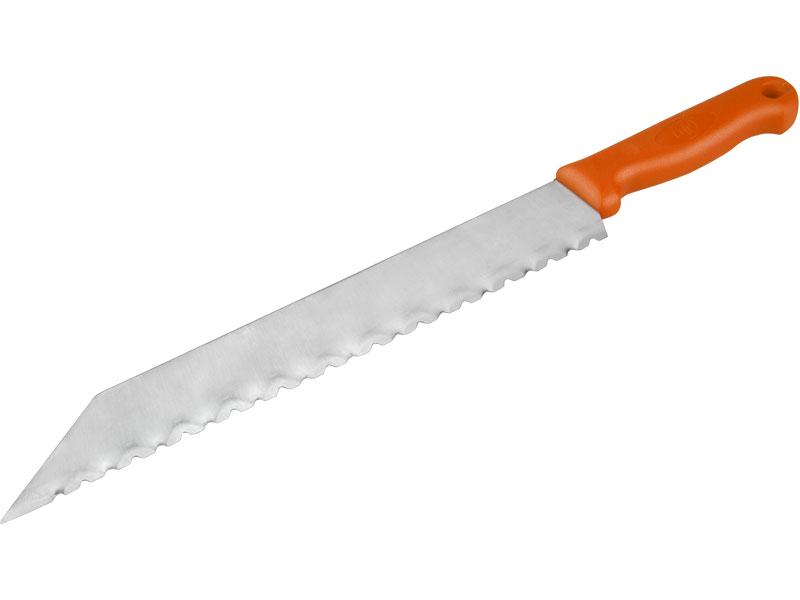 nůž na stavební izolační hmoty nerez, 480/340mm, celková délka 480mm, délka čepele 340mm,