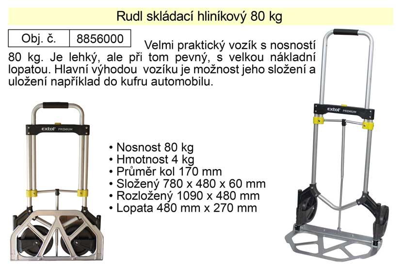 Rudlík skládací hliníkový nosnost 80 kg