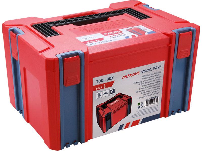 Box plastový, velikost L, 443 x 310 x 248 mm, Extol Premium