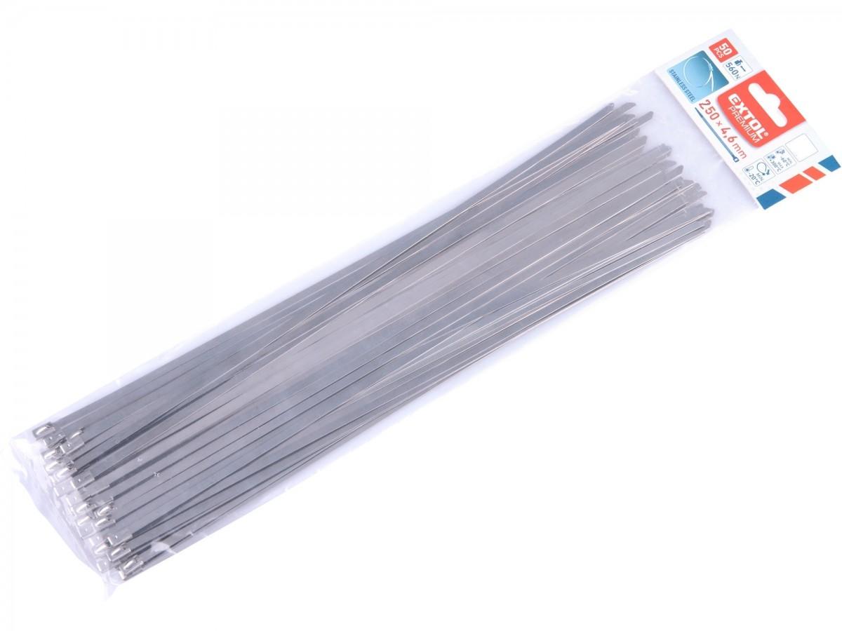pásky stahovací NEREZ, 250x4,6mm, 50ks Nářadí 0.159Kg MA8856276
