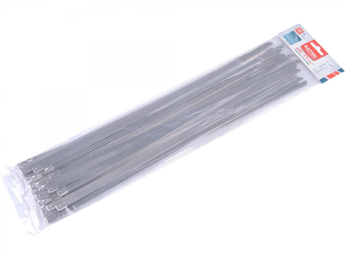 pásky stahovací NEREZ, 450x7,9mm, 50ks Nářadí 0.462Kg MA8856282