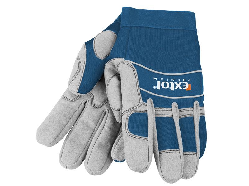 """rukavice pracovní polstrované, L/10"""", velikost L/10"""", EXTOL PREMIUM"""