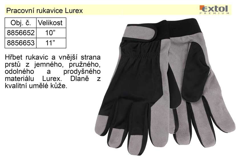 """Pracovní rukavice Lurex velikost 10"""" Nářadí 0.072Kg MA8856652"""