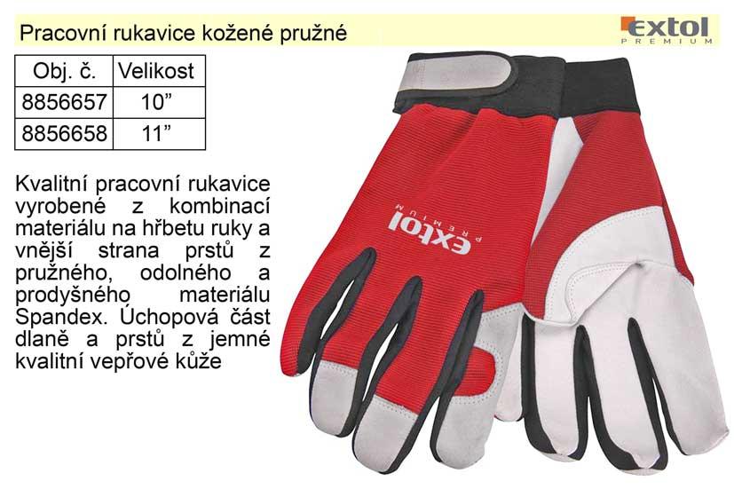 """Pracovní rukavice kožené pružné velikost  8"""""""