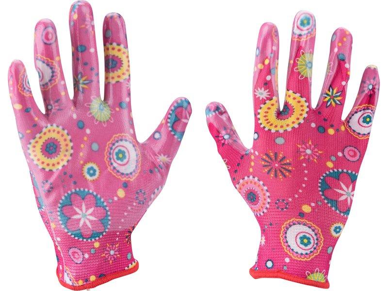 """EXTOL LADY rukavice zahradní nylonové polomáčené v nitrilu, velikost 7""""  8856669"""