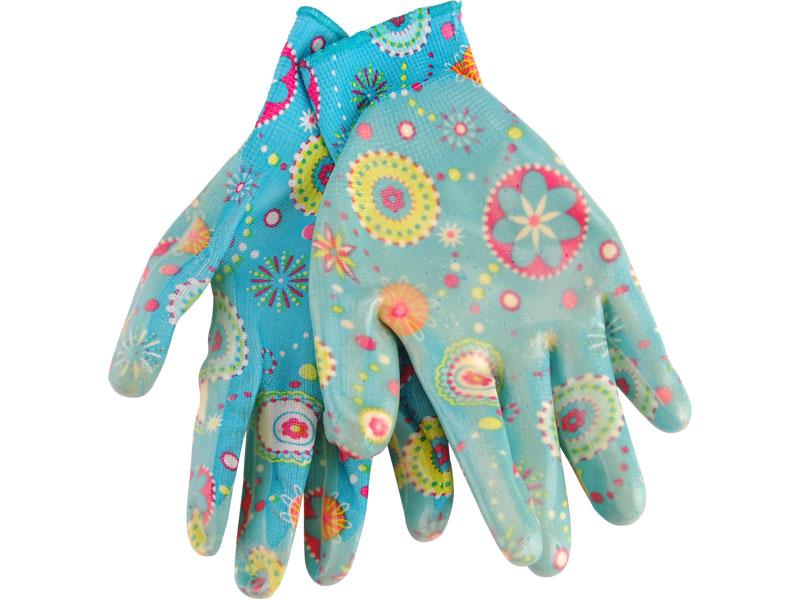"""rukavice zahradní nylonové polomáčené v nitrilu, 9"""", velikost 9"""", EXTOL PREMIUM"""