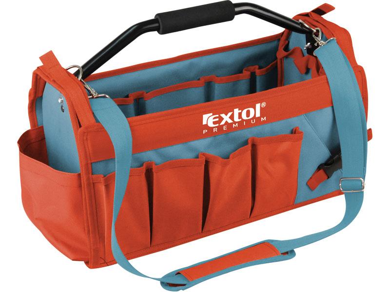 taška na nářadí s kovovou rukojetí, 49x23x28cm, 31 kapes, nylon, EXTOL PREMIUM