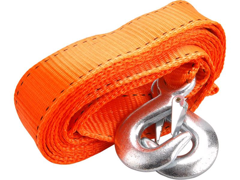 lano tažné - popruh s háky, 4m x 50mm, max. tažná síla 2800kg, ocelové háky na koncích, P