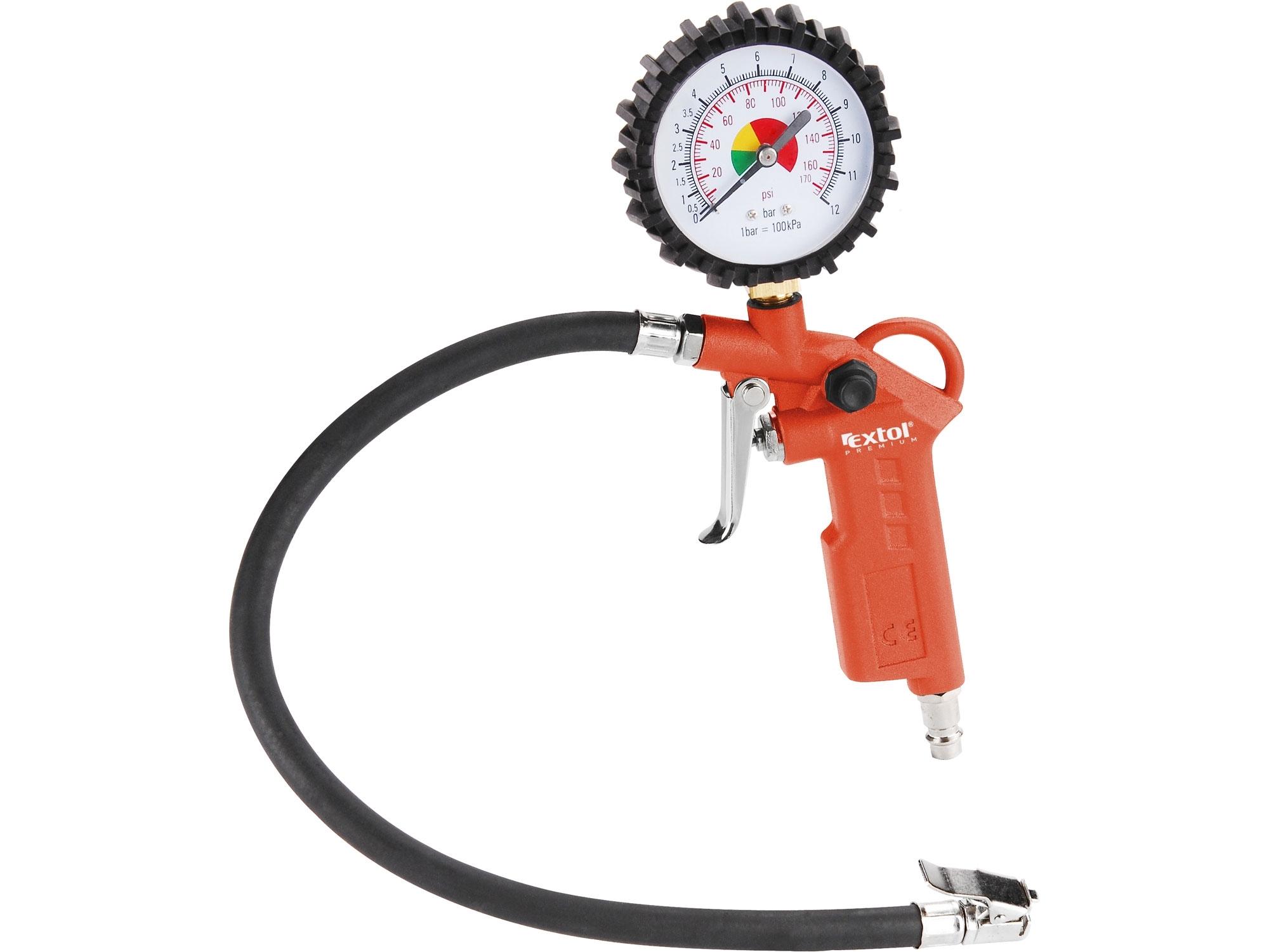 Plnič pneumatik s manometrem 0,8 MPa, pneuhustič