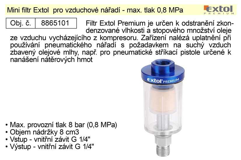 Mini filtr Extol pro vzduchové nářadí