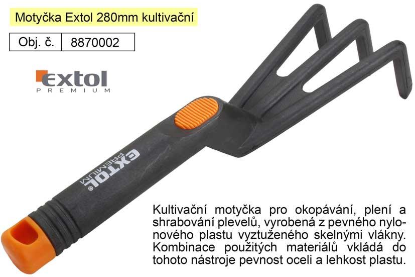 Motyčka Extol 280mm kultivační