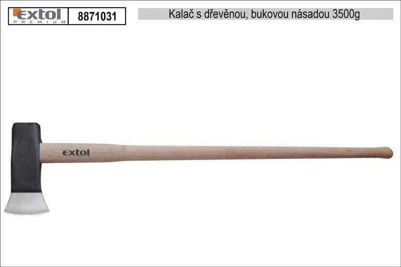 Kalač s dřevěnou bukovou násadou EXOL PREMIUM 3500g