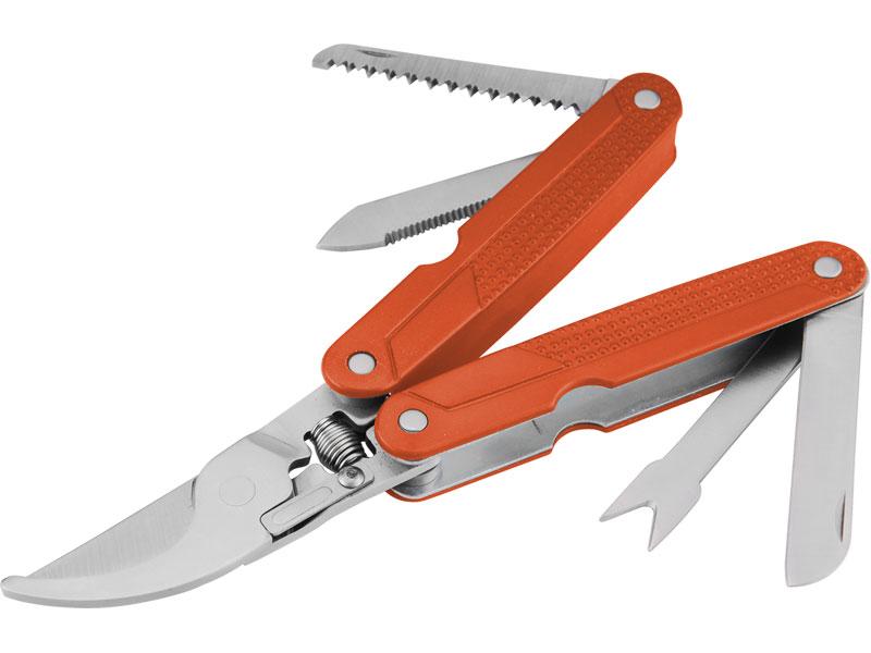 nůžky zahradní multifunkční 5 v 1, nerez, velikost složených nůžek 117x40x18mm, 4 multifu