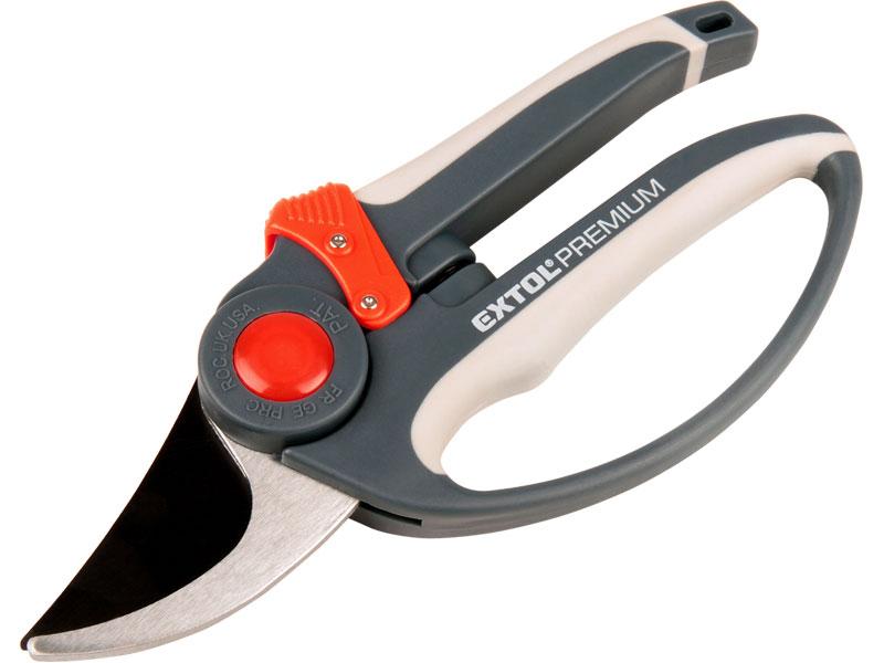 nůžky zahradnické, 215mm, na stříhání větví do průměru 15mm, HCS, EXTOL PREMIUM