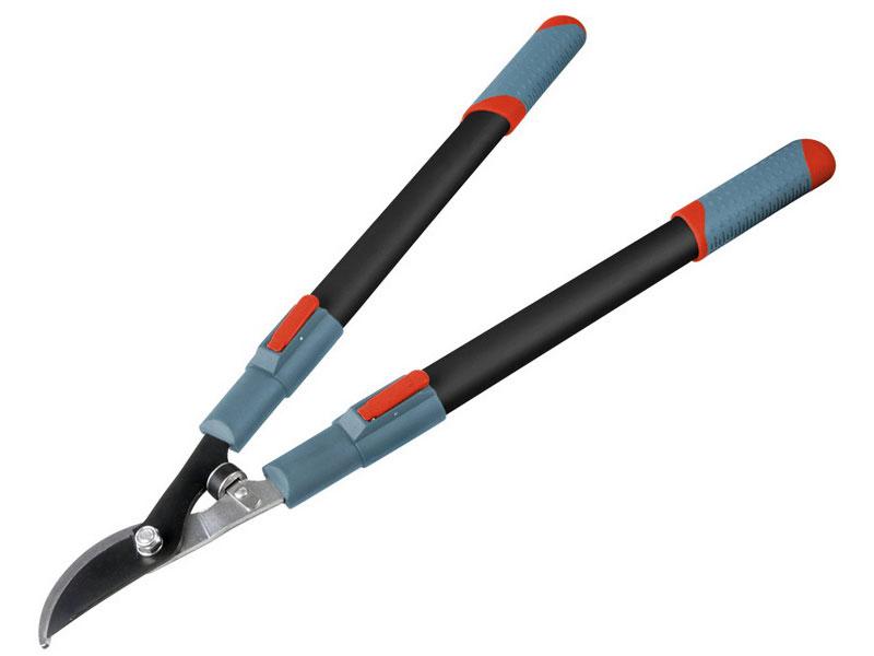 nůžky na větve teleskopické dvousečné, 670-960mm, teleskopická rukojeť, na stříhání větví