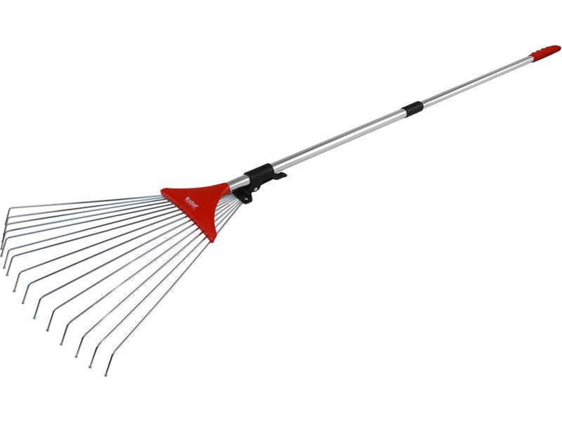 hrábě nastavitelné s teleskopickou násadou, délka 80-158cm, šířka 18-59cm, pozinkované, s