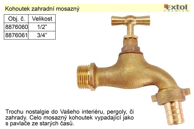 """Kohoutek zahradní mosazný 1/2"""""""