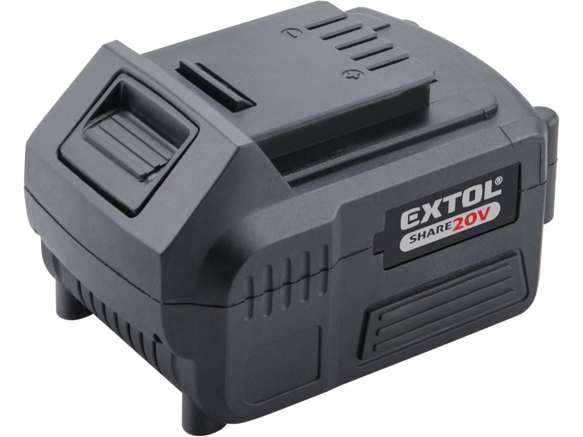 EXTOL PREMIUM baterie akumulátorová SHARE20V, Li-ion, 4000mAh 8891882 Nářadí | 0,7 Kg