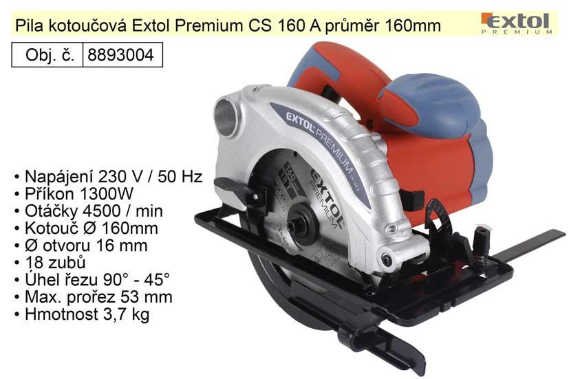 Pila kotoučová Extol Premium CS 160 A průměr 160mm 1300W