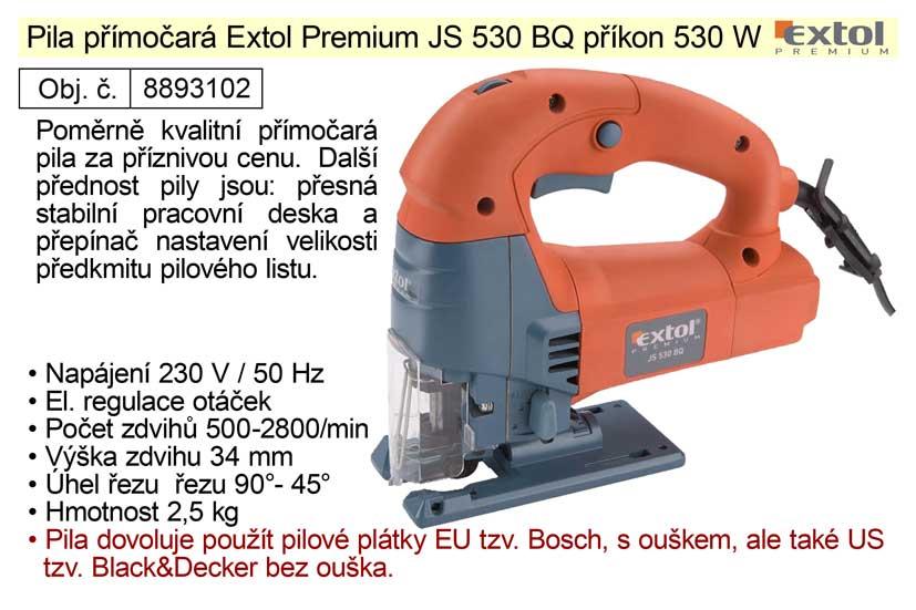 Pila přímočará Extol Premium JS 530 BQ 530 W