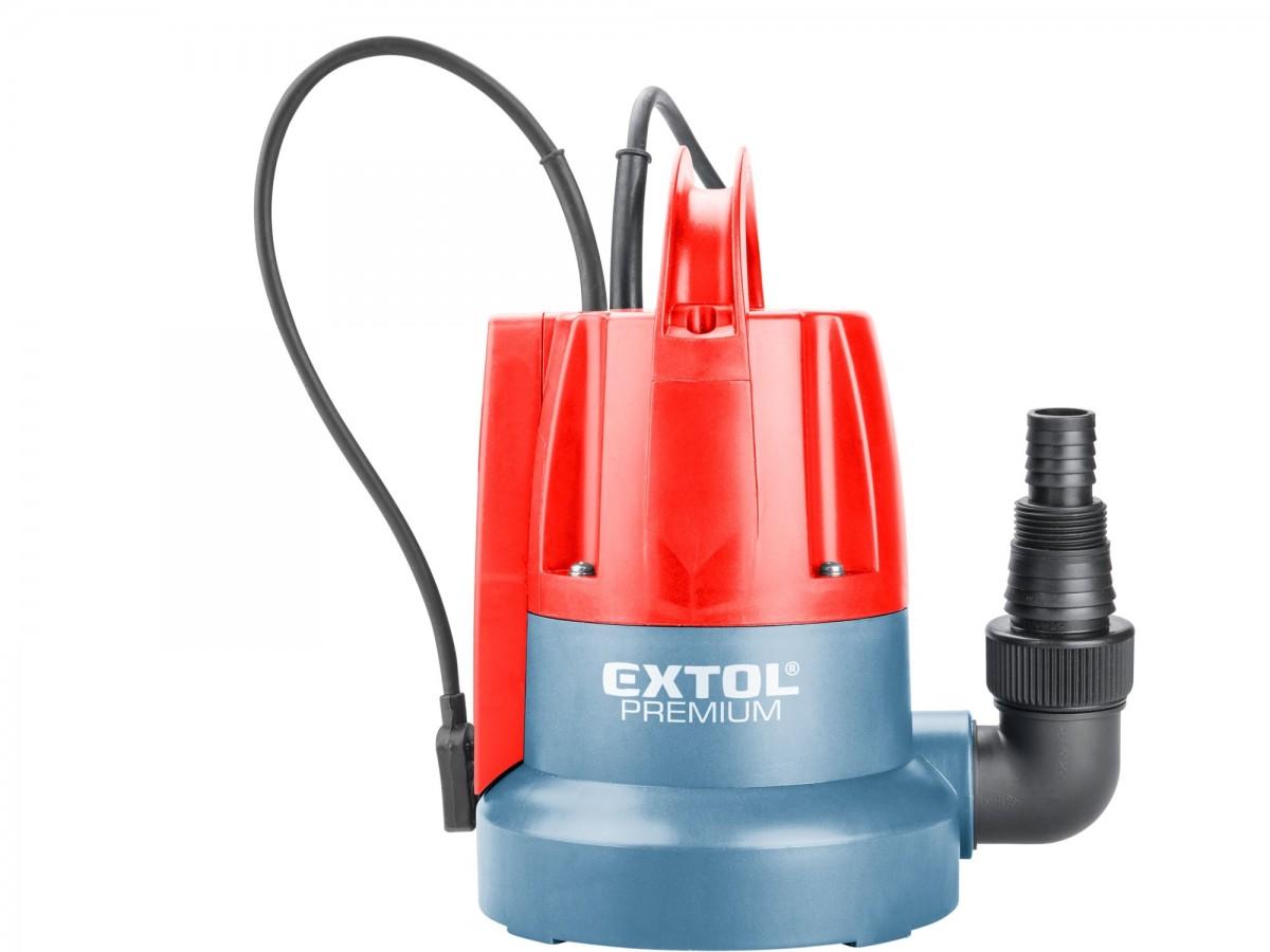 EXTOL PREMIUM čerpadlo ponorné, pro čerpání do sucha, 400W 8895014
