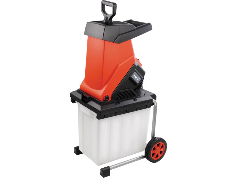 Elektrický drtič /štěpkovač/ zahradního odpadu s boxem EXTOL PREMIUM CS 24 B