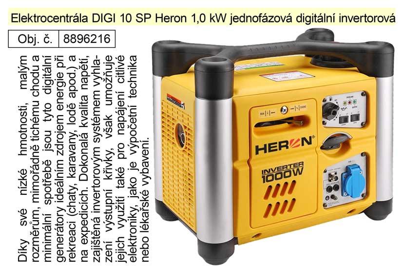 Elektrocentrála DIGI 10 SP Heron 1,0 kW jednofázová digitální invertorová