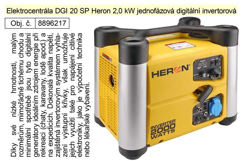 Elektrocentrála DGI 20 SP Heron 2,0 kW jednofázová digitální invertorová