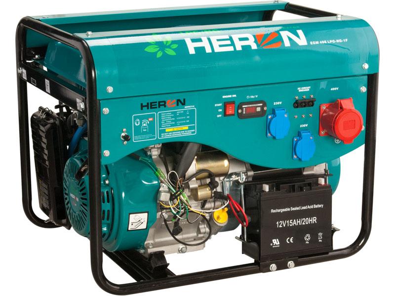 elektrocentrála benzínová aplynová (LGP/NG) 13HP/5,3kW (400V) 4,8kW (230V), elektrický s