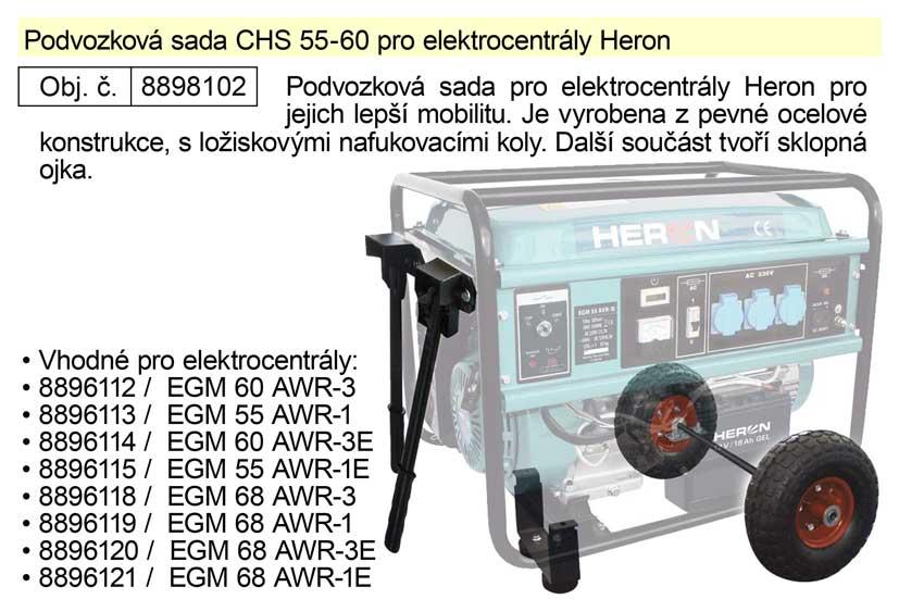 Podvozková sada CHS 55-60 pro elektrocentrály Heron