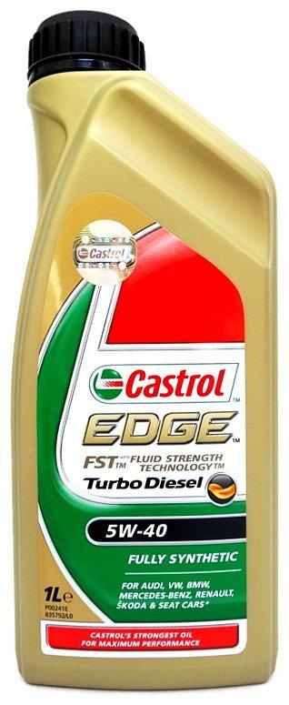 Olej motorový Castrol EDGE Turbo Diesel 5W-40 1L Nářadí 0.9Kg AT-90640