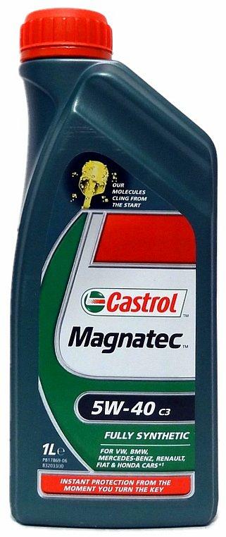 Olej motorový Castrol magnatec 5W-40 1L C3 Nářadí 0.9Kg AT-90642