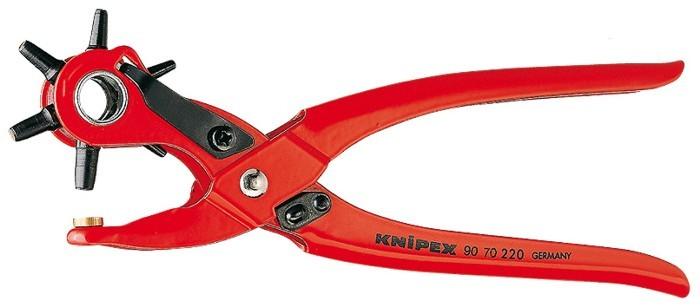 Knipex 9070220 - Kleště děrovací 2,0-5,0mm revolverové pro kůži, textil, plast Nářadí 0.26Kg 9070220