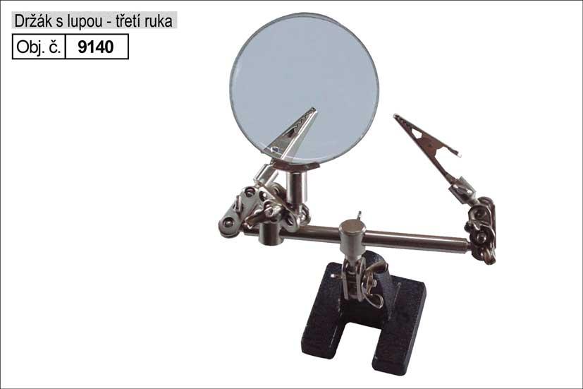 Držák s lupou, tzv. Třetí ruka Nářadí 0.422Kg MA9140