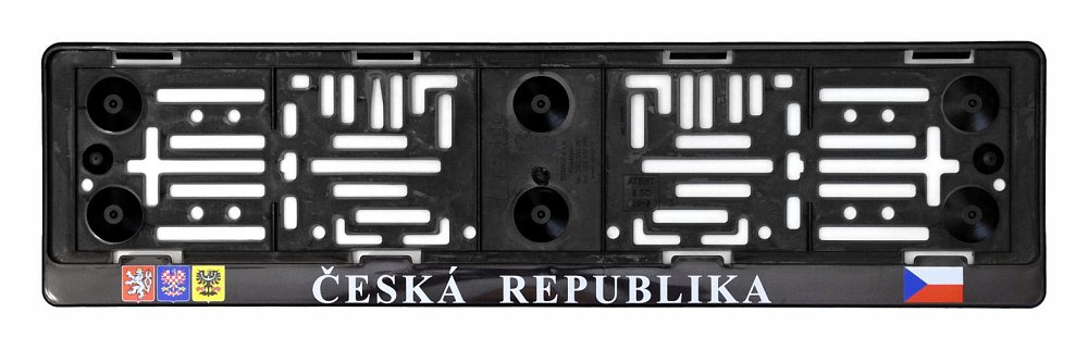 Podložka pod SPZ s nápisem ČR a erby