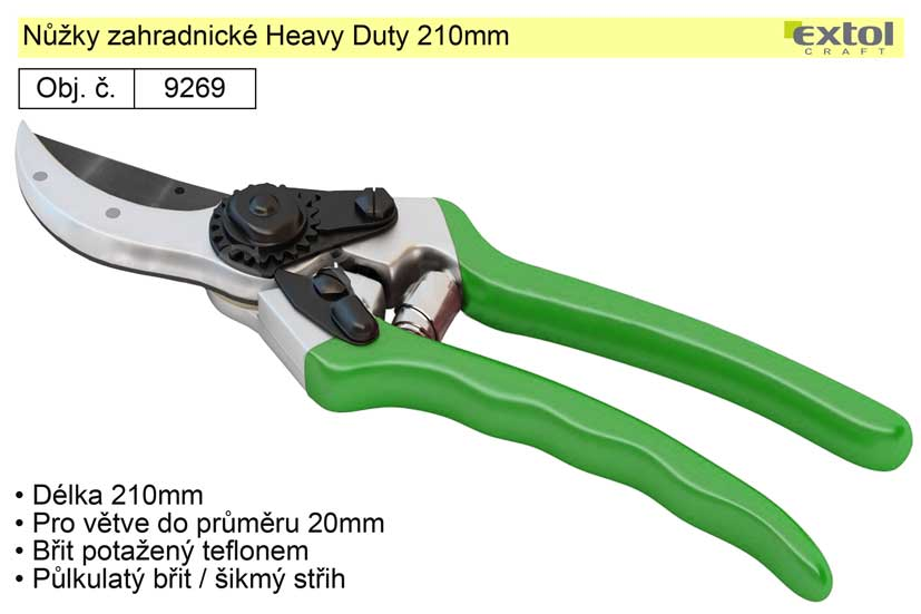 Nůžky zahradnické Heavy Duty 210mm