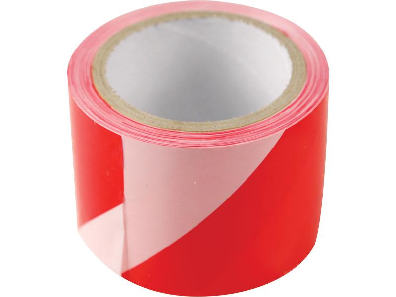 páska výstražná červeno-bílá, 80mm x 200m, PE,