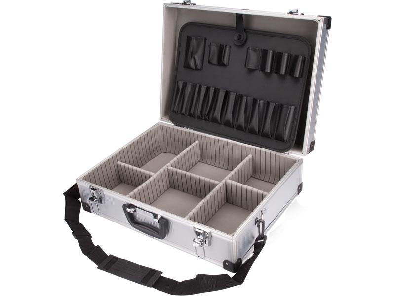 kufr na nářadí hliníkový, 460x330x150mm, stříbrná barva, EXTOL CRAFT