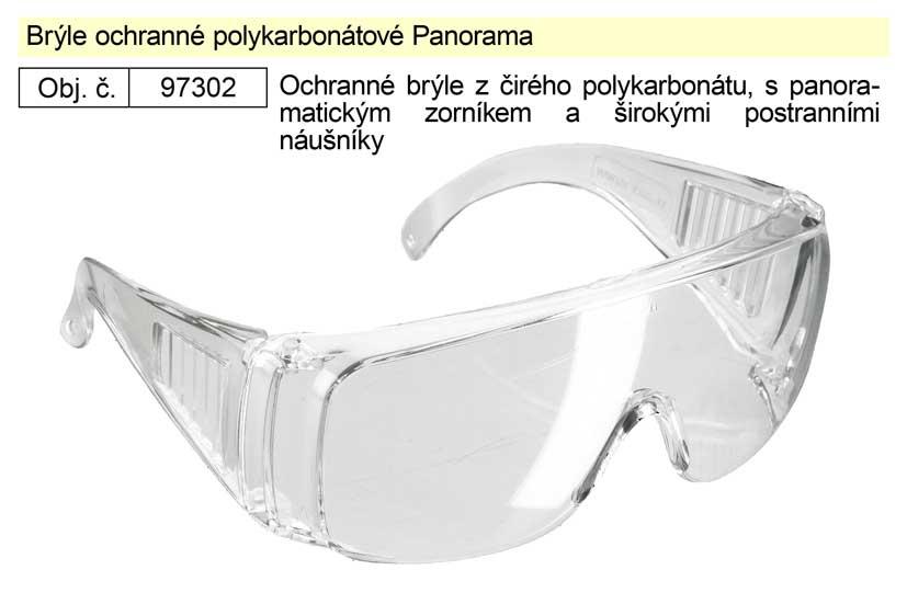 Brýle ochranné polykarbonátové Panorama
