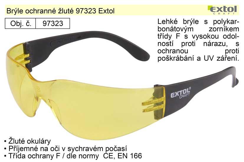Brýle ochranné žluté 97323 Extol