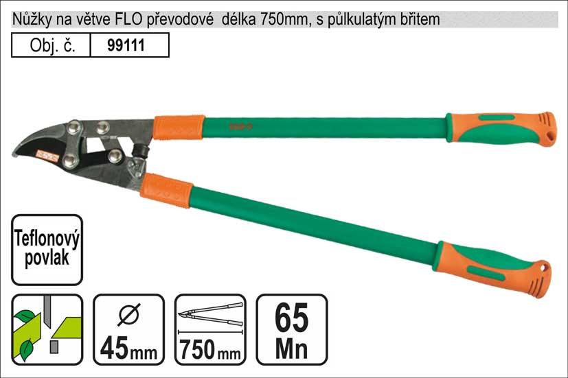 Nůžky na větve FLO 750mm půlkulatý břit převodové