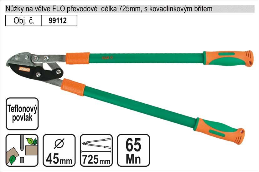 Nůžky na větve FLO 725mm kovadlinkový břit převodové