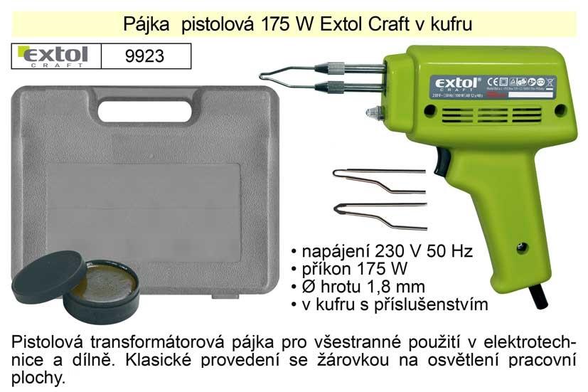 Pájka pistolová 175 W Extol Craft v kufru
