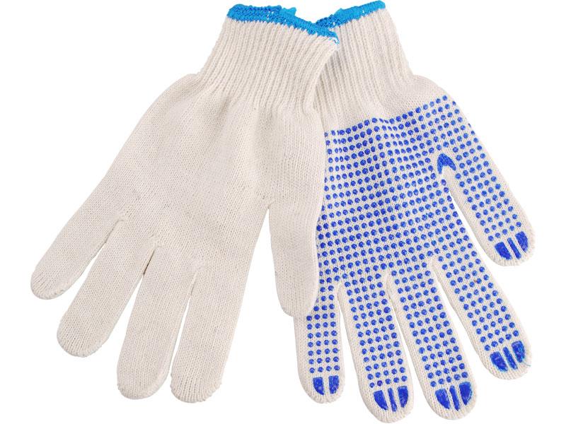"""rukavice bavlněné s PVC terčíky na dlani, velikost 10"""", EXTOL CRAFT"""